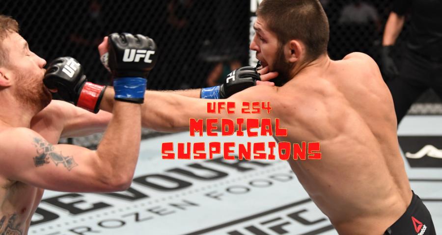 UFC 254 medical suspensions