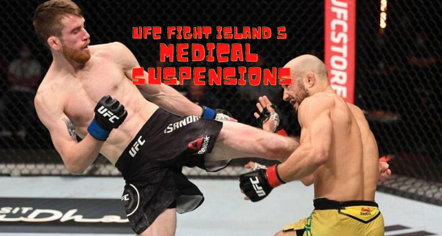UFC Fight Island 5 medical suspensions