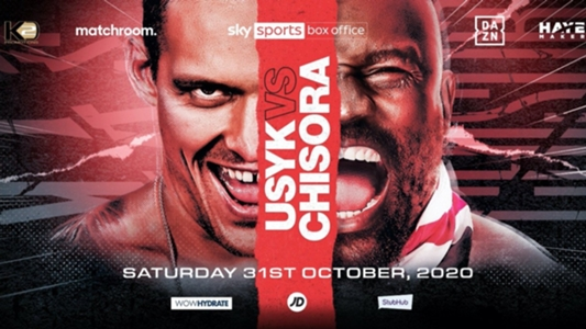 usyk Chisora fight card results