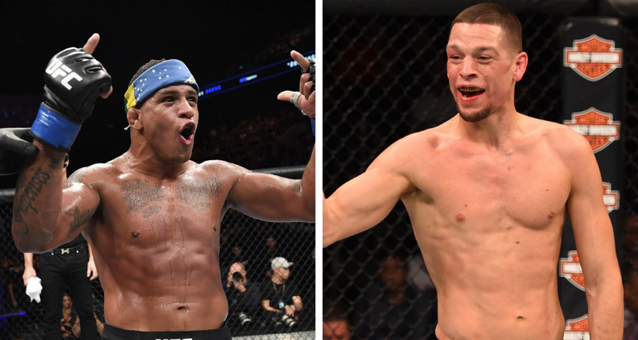 Gilbert Burns challenges Nate Diaz to $400k winner take all grappling match