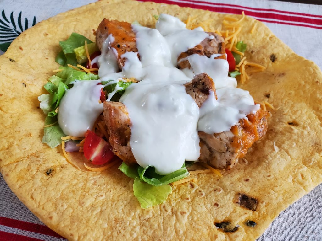 Buffalo Chicken Wrap - Fight Night Feasts - Bellator 254