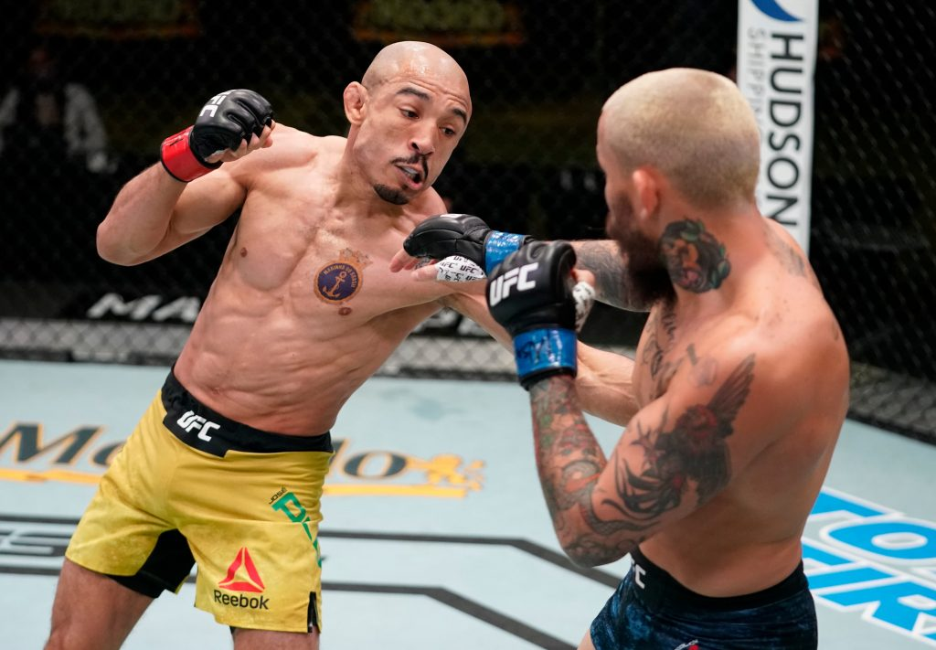 Jose Aldo out-pressures Marlon Vera results in Co-main
