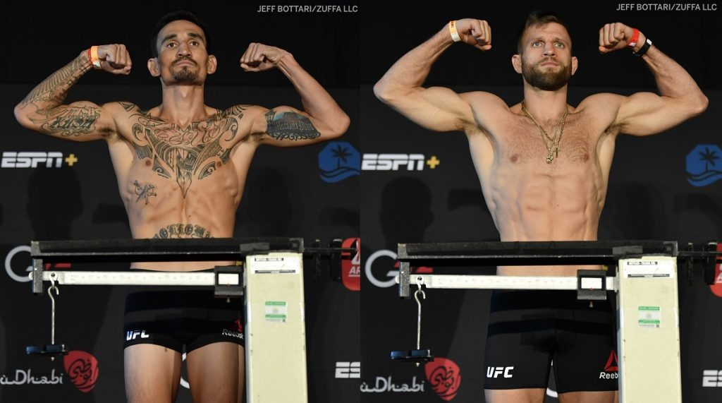 UFC Fight Island 7 weigh-in results - Holloway vs. Kattar