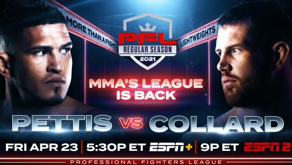 PFL announces 2021 season kickoff card for April 23
