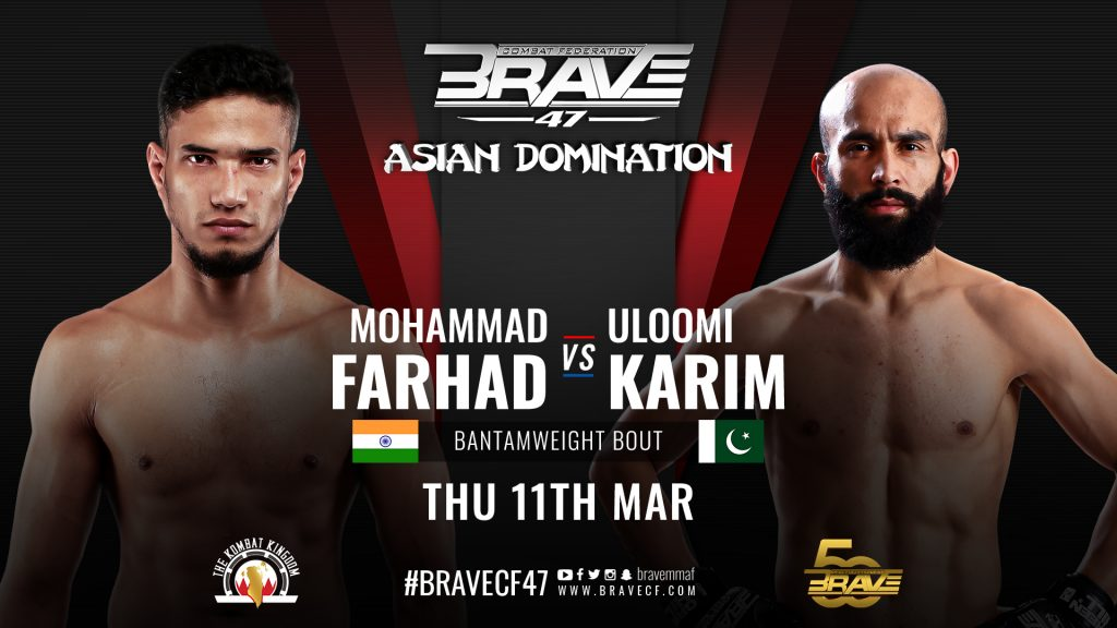 India vs Pakistan: Mohammad Farhad to take on Uloomi Karim at BRAVE CF 47, in Bahrain