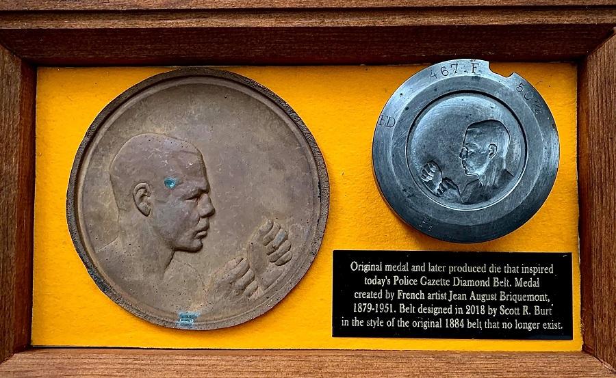 bare knuckle medallion, Scott Burt, Bare Knuckle Boxing Hall of Fame