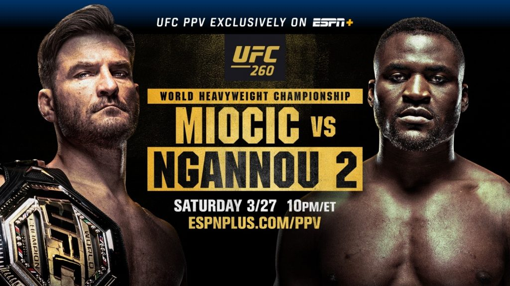 UFC 260 results - Miocic vs. Ngannou 2