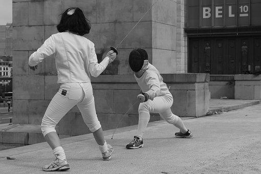 Martial Arts Class, fencing