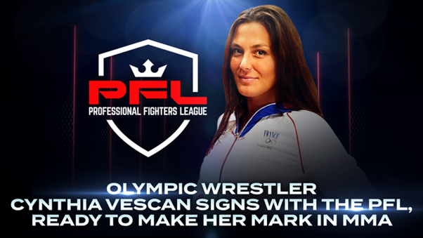 Two-time Olympic wrestler, Cynthia Vescan, signs with PFL MMA