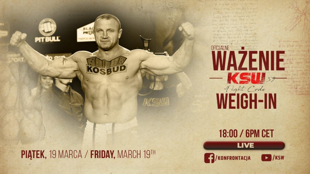 KSW 59 Weigh-In Resuts: 67lbs Difference in Main Event