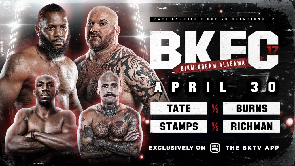 BKFC 17 results - Tate vs. Burns - Order and watch here