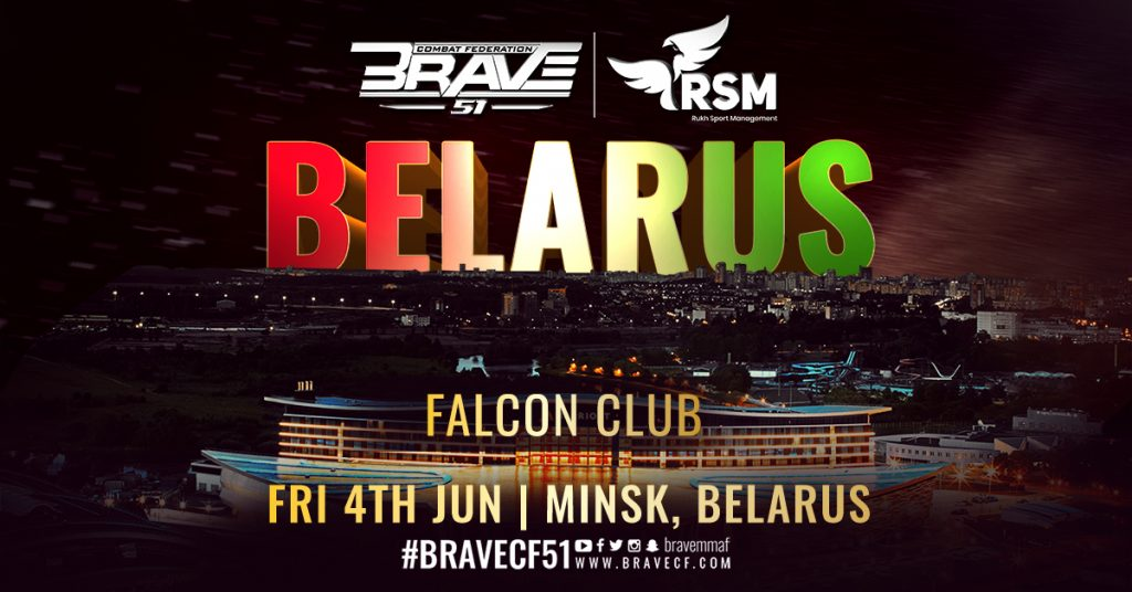 Brave Combat Federation headed to Minsk, Belarus with Brave CF 51