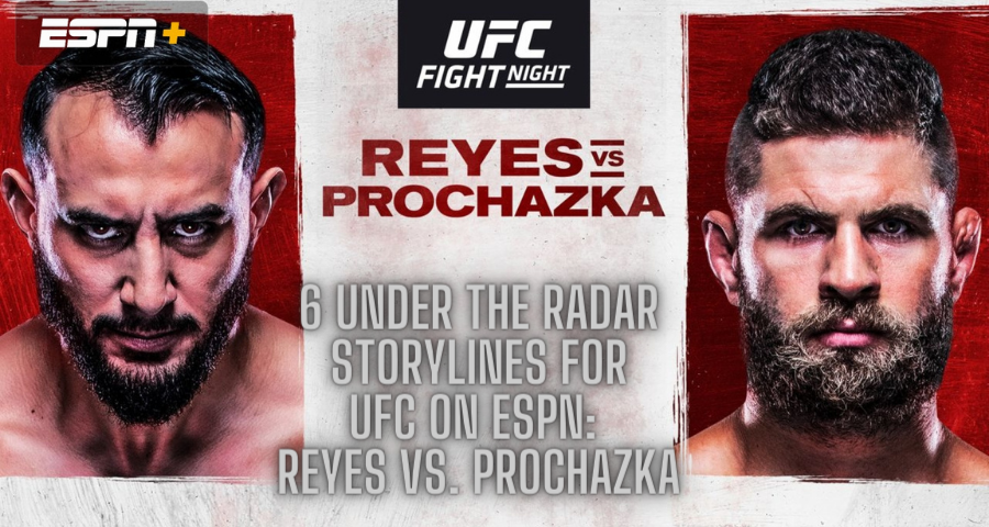 6 Under The Radar Storylines For UFC on ESPN: Reyes vs. Prochazka