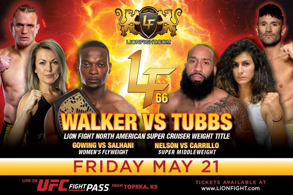 Lion Fight 66 announced for May 21 in Topeka, Kansas