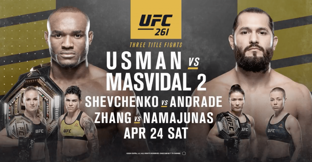 UFC 261 results - Usman vs. Masvidal 2 - Order and watch here