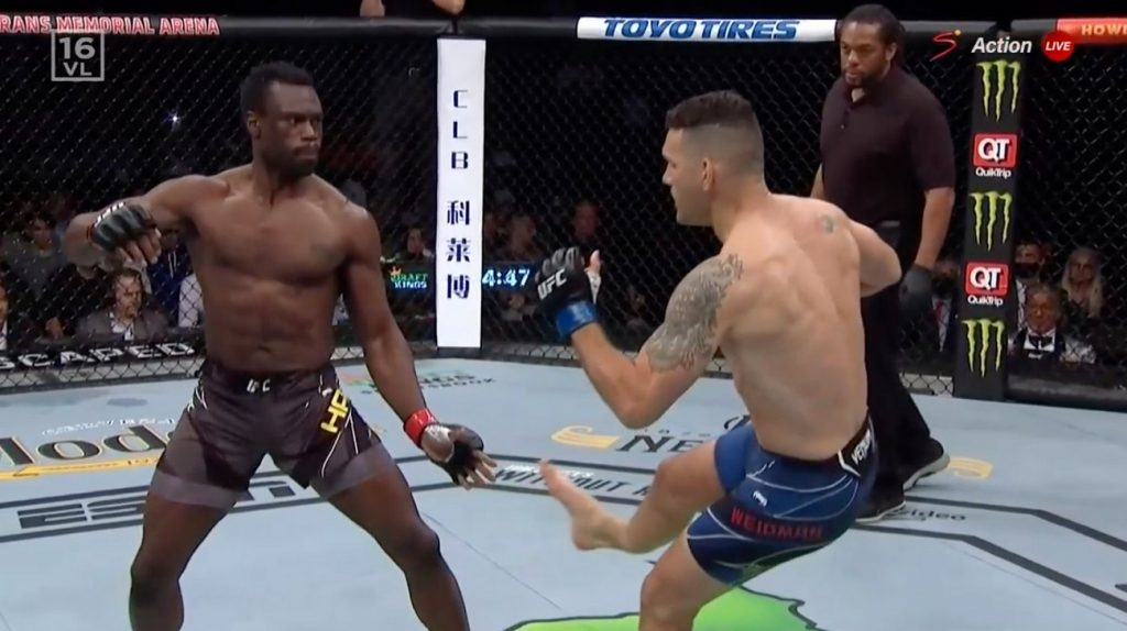 Chris Weidman Ironically, And Horrifically Breaks Leg In Uriah Hall Rematch At UFC 261