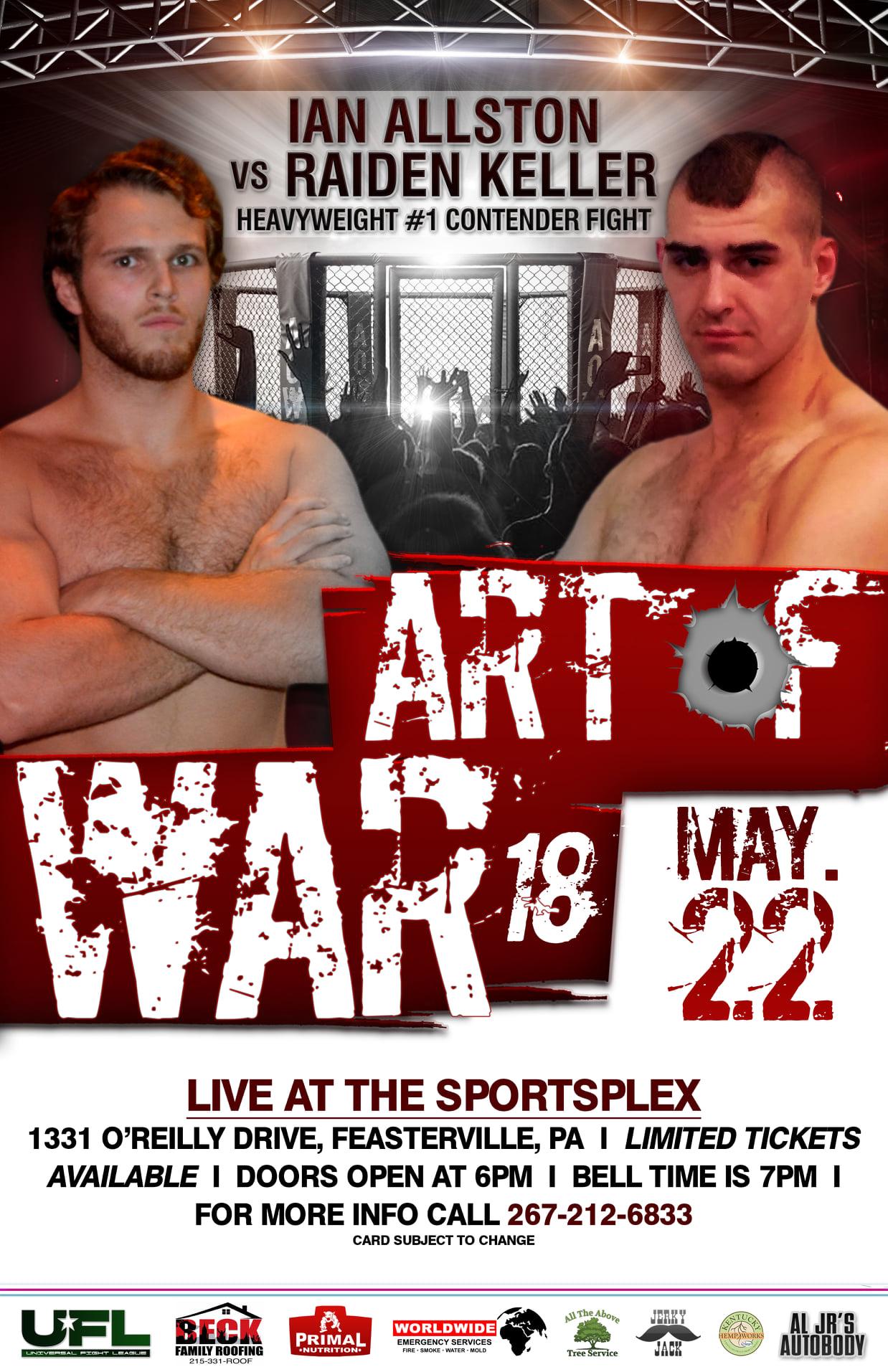 Raiden Keller, Ian Allston, Art of War 18