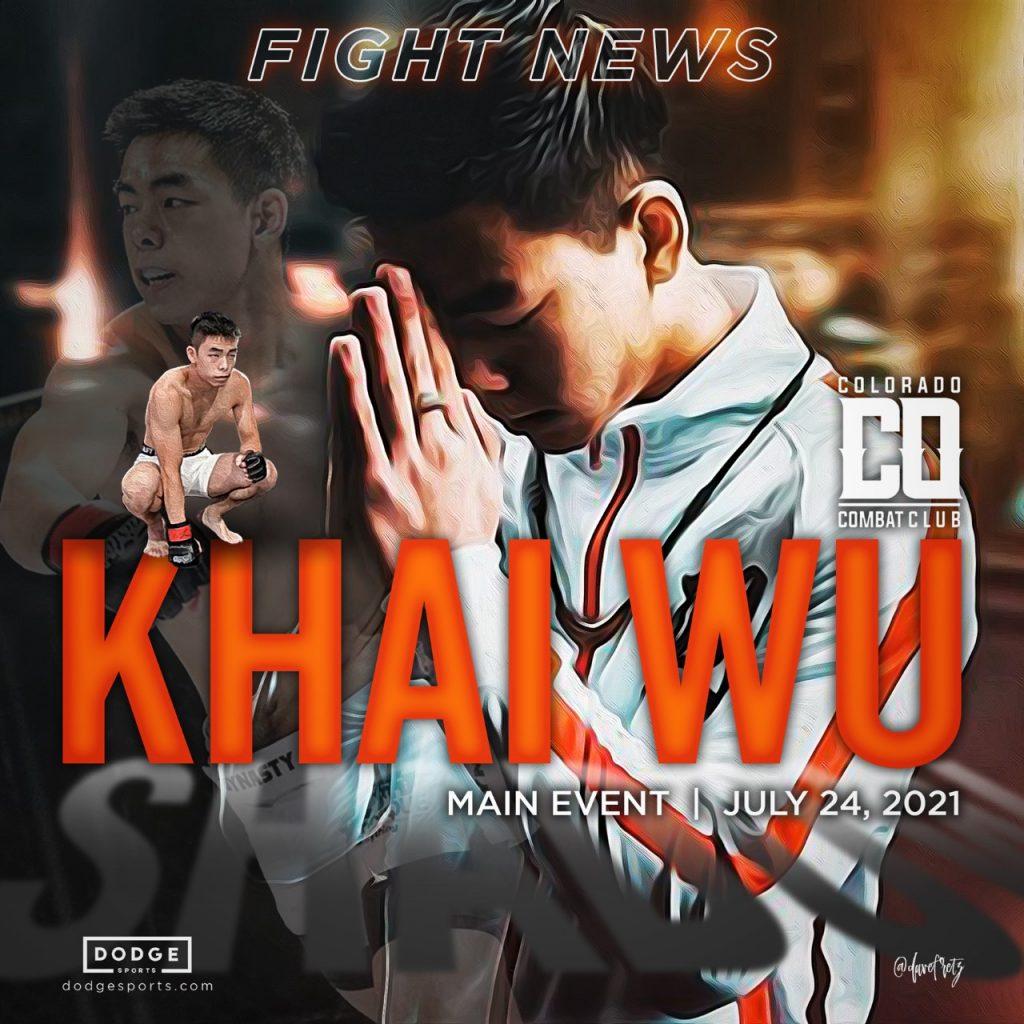 Khai Wu, Dodge Sports Prospect, Set to Headline Colorado Combat Club 7 in July