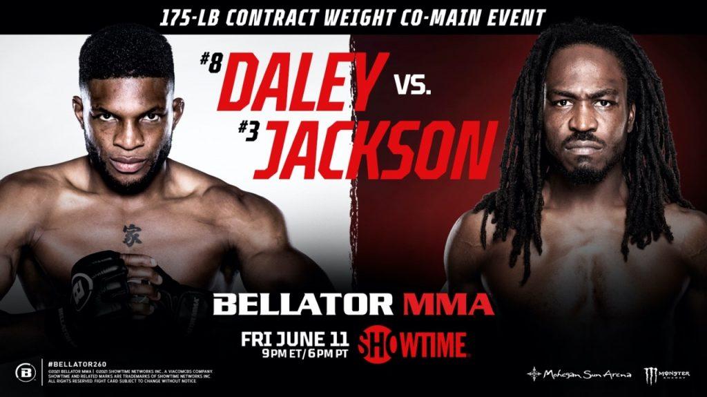 Jason Jackson meets Paul Daley in Bellator 260 co-main event