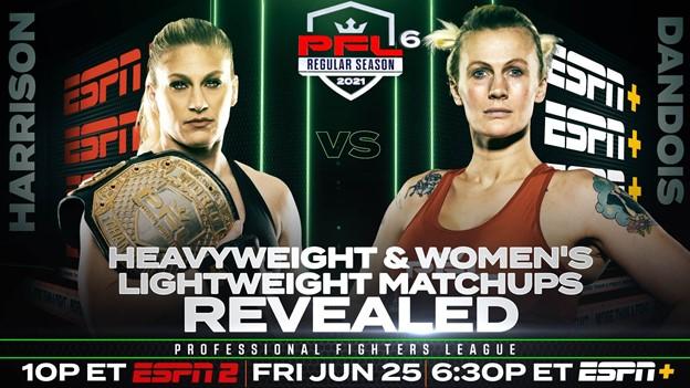 PFL announces final regular season matchups for heavyweights and women's lightweights on June 25
