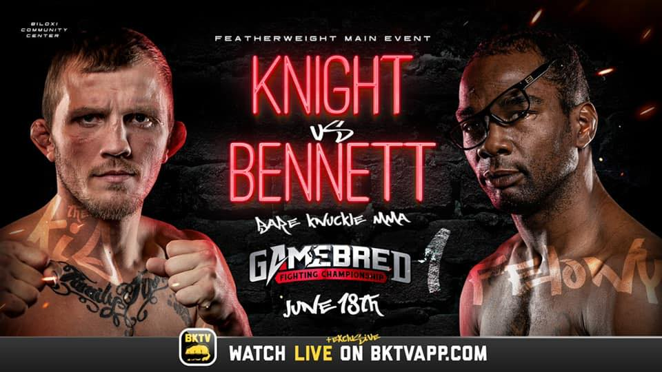 Bare Knuckle MMA - Gamebred Fighting Championship - PPV Live Stream