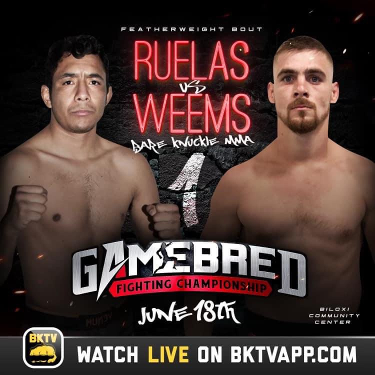 """Josh """"Wide Open"""" Weems to make his Bareknuckle MMA Debut, Gamebred Fighting Championship"""