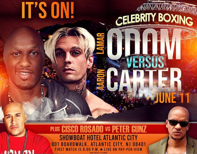 Celebrity Boxing Weigh-In -Lamar Odom vs Aaron Carter - Free Live Stream