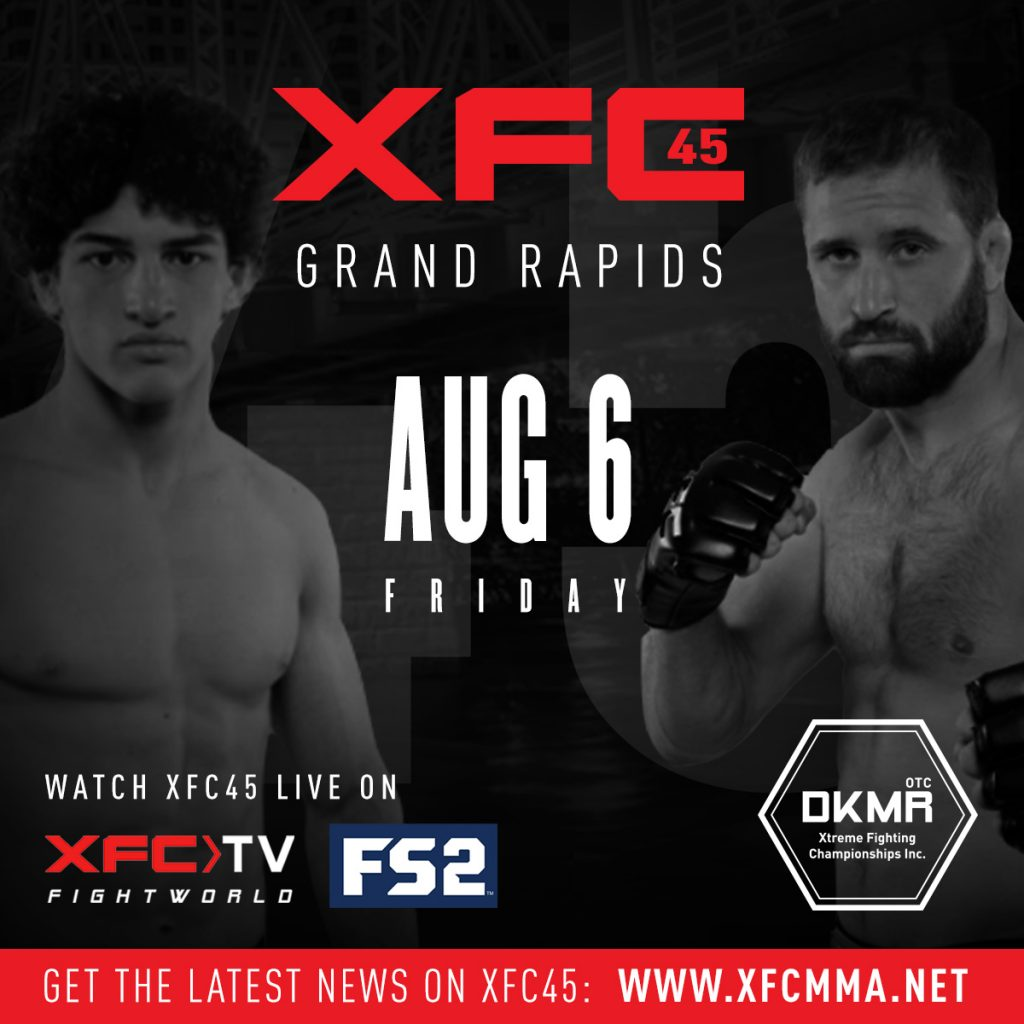 CFC 45, Xtreme Fighting Championships' XFC 45 Main Card Unveiled