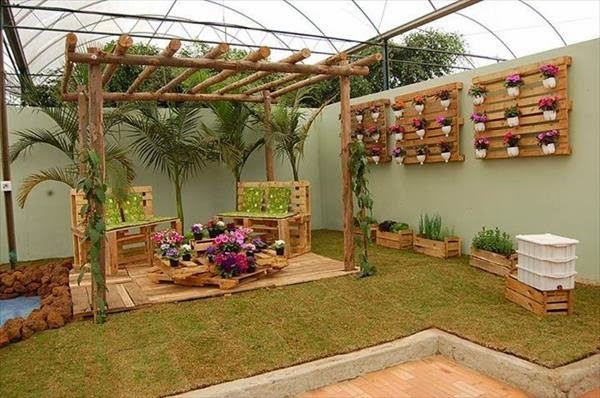 Trend of Garden Decoration with Pallets