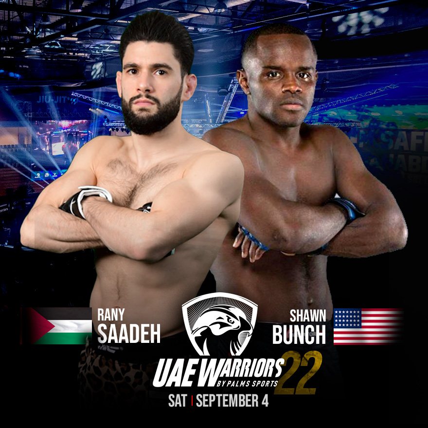 Shawn Bunch meets Rany Saadeh in the main event of UAE Warriors 22