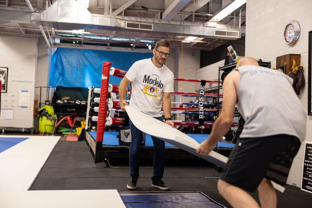 Stipe Miocic Helps Rebuild Hometown Gym, Also To Rebuild Many Others