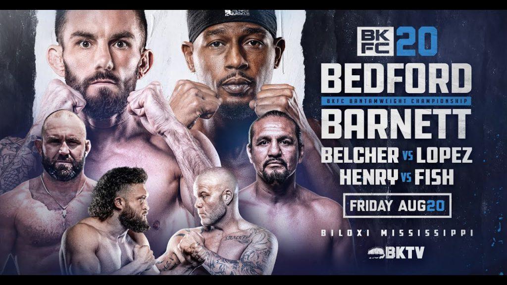 BKFC 20 results - Bedford vs. Barnett Jr. 2 - for bantamweight title