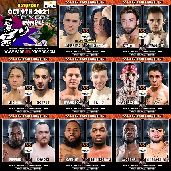 Rivers Rumble XI - Live MMA returns to Rivers Casino in Pittsburgh