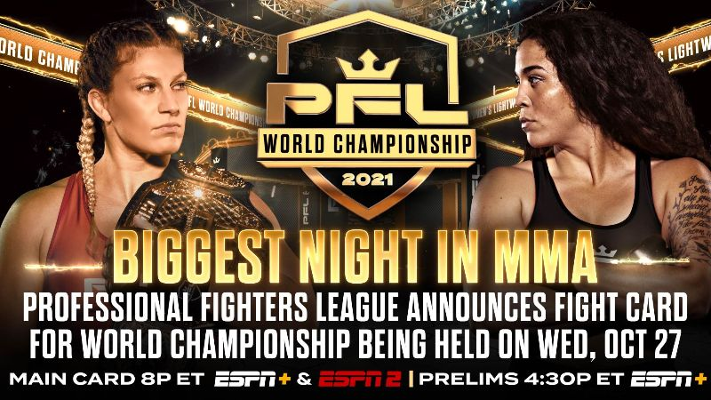 PFL World Championship fight card set for Wednesday, October 27