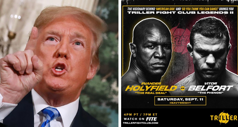 Former President Donald Trump to commentate Holyfield-Belfort boxing event